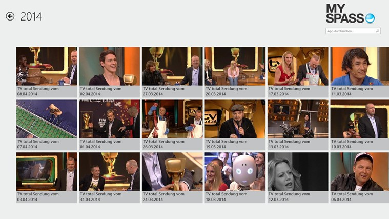 MySpass-App: TV-Shows kostenlos anschauen! Screenshot 1