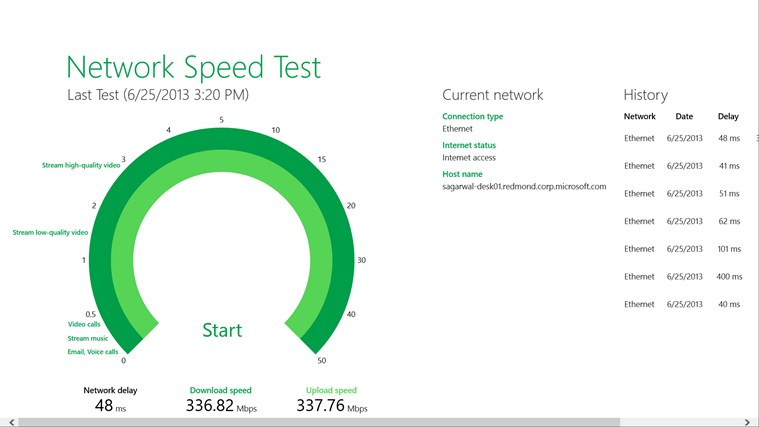 Network Speed Test Screenshot 1