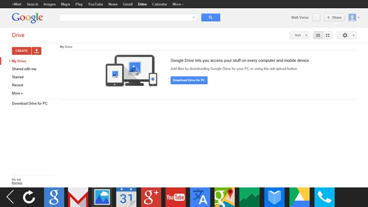 G-Apps Browser: Search + Gmail + Calendar + Translate... screen shot 7