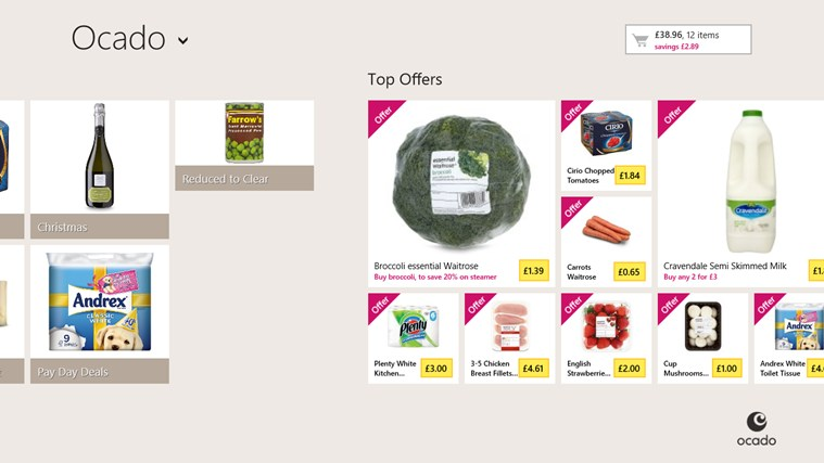 Ocado screen shot 3