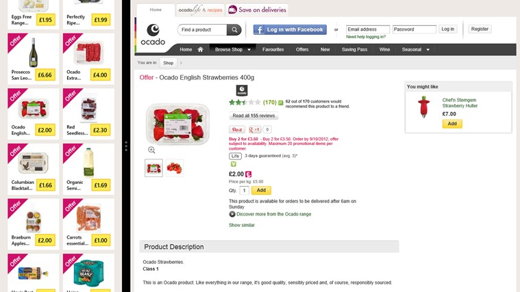 Ocado screen shot 5