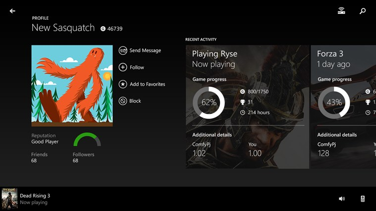 Xbox One SmartGlass screen shot 3