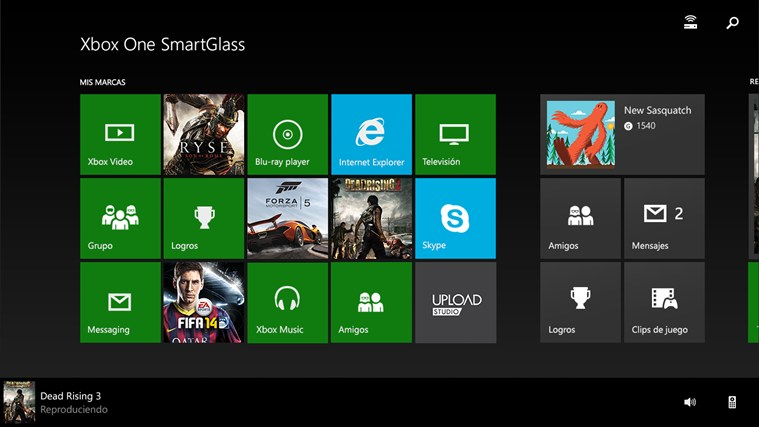 Xbox One SmartGlass captura de pantalla 1