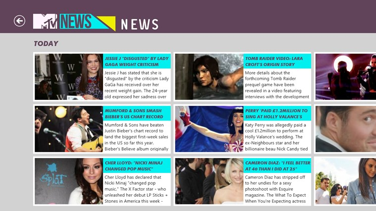 MTV UK News screen shot 5