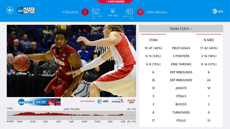 NCAA® March Madness® Live screen shot 1