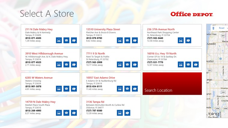 Office Depot screen shot 1