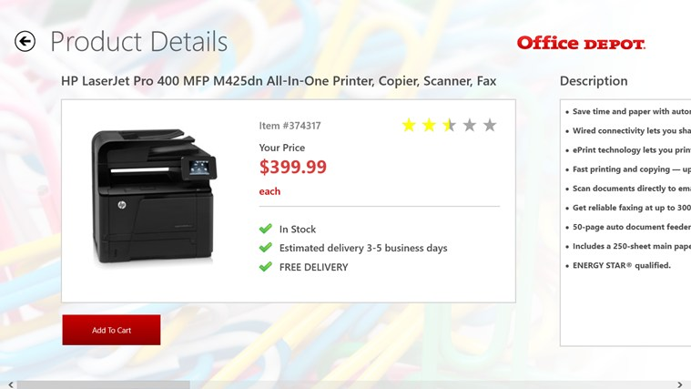Office Depot screen shot 3