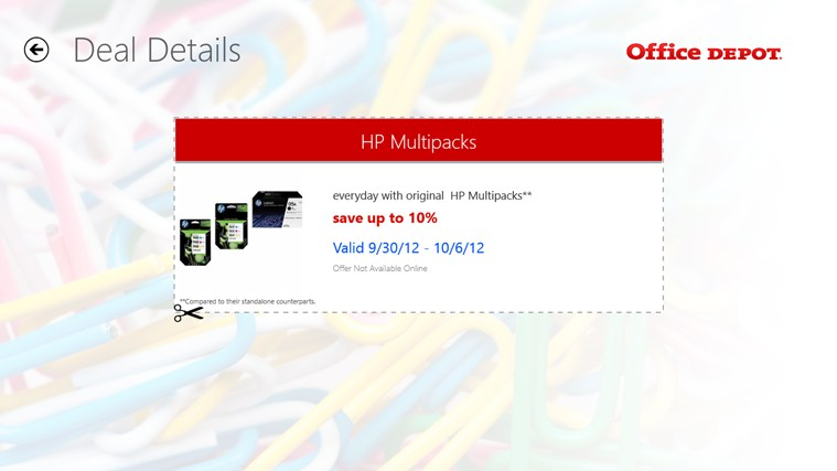 Office Depot screen shot 5