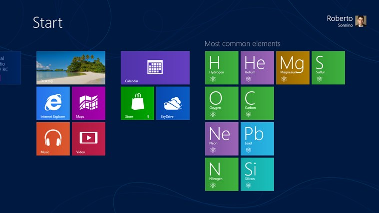 Periodic Table screen shot 3