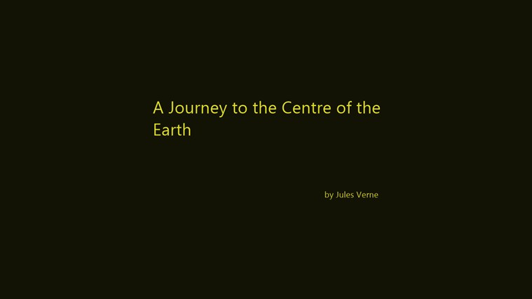A Journey to the Centre of the Earth by Jules Verne petikan skrin 3