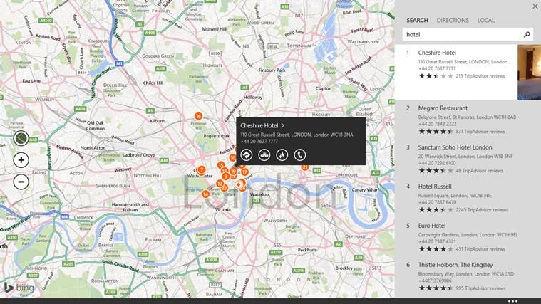 Maps screen shot 3