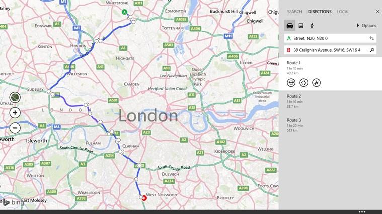 Maps screen shot 5