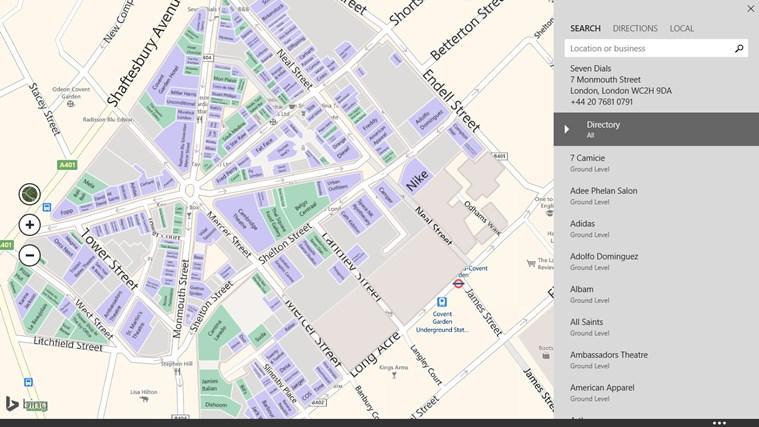 Maps screen shot 7