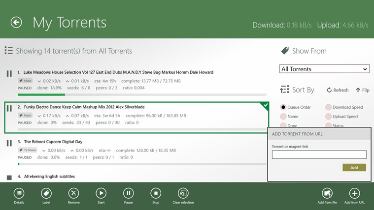 uTorrent Client screen shot 7