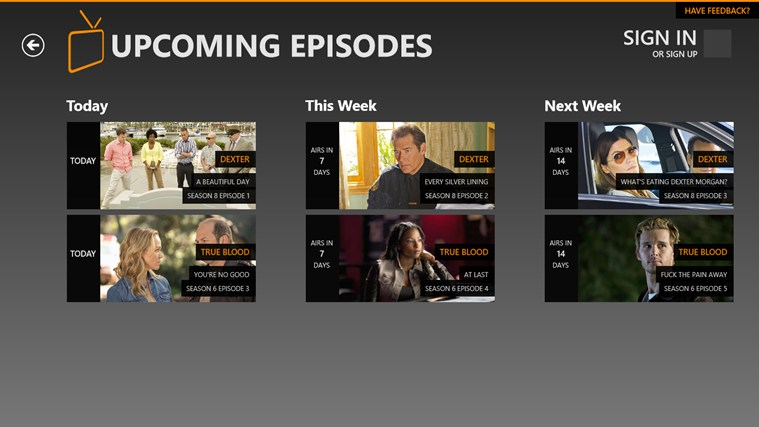 Primetime TV screen shot 3