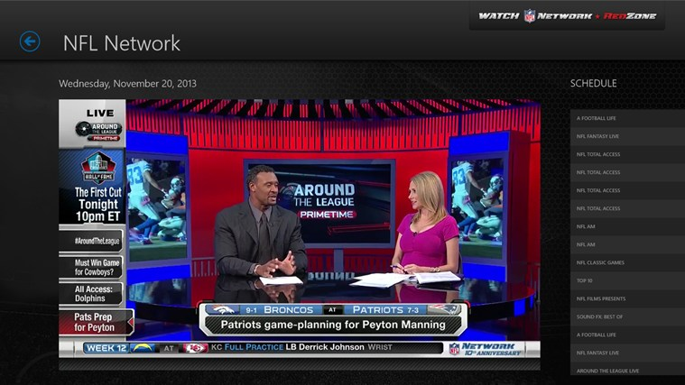 Watch NFL Network screen shot 1