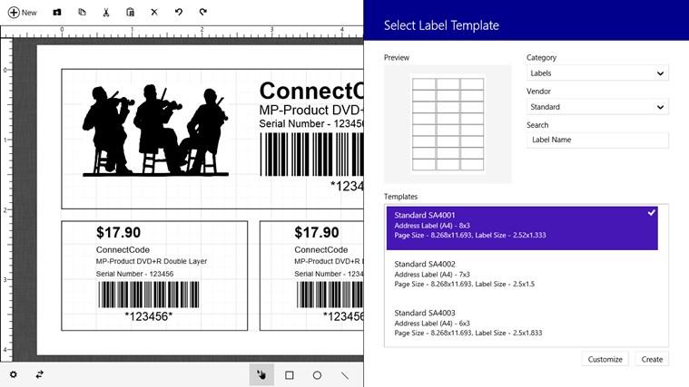 Barcode & Label petikan skrin 3