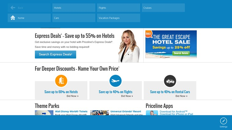 Priceline.com screen shot 1