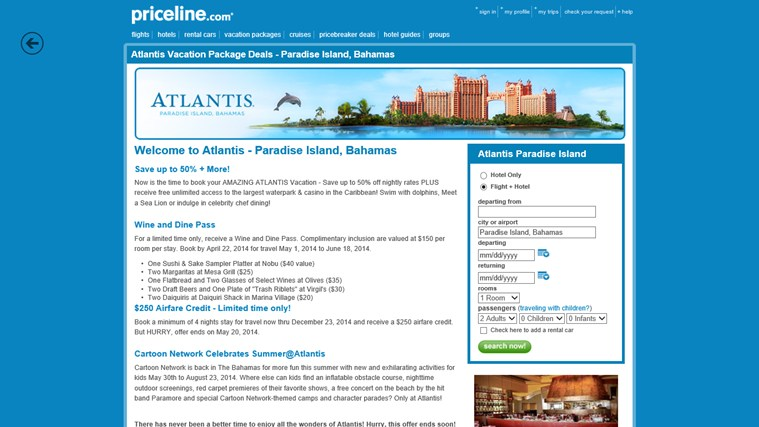 Priceline.com screen shot 3