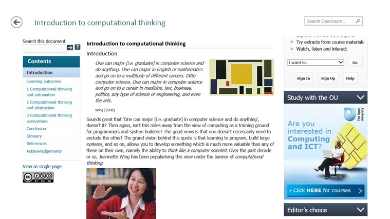 OpenLearn from Open University (beta) screen shot 3