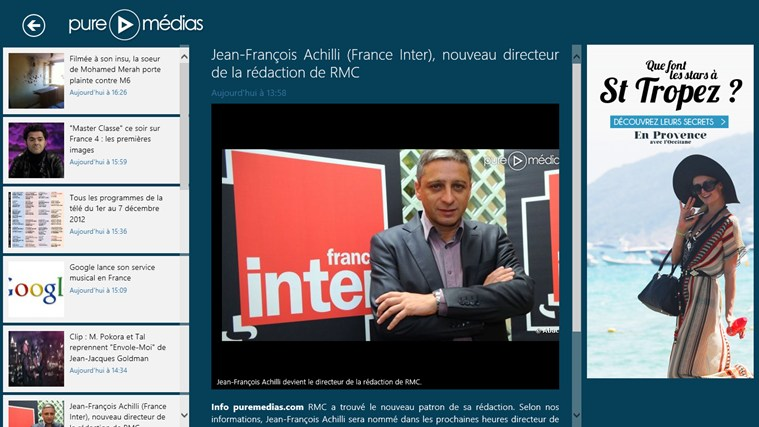 Puremedias - Buzz et Actu TV - OZAP.com capture d'écran 1