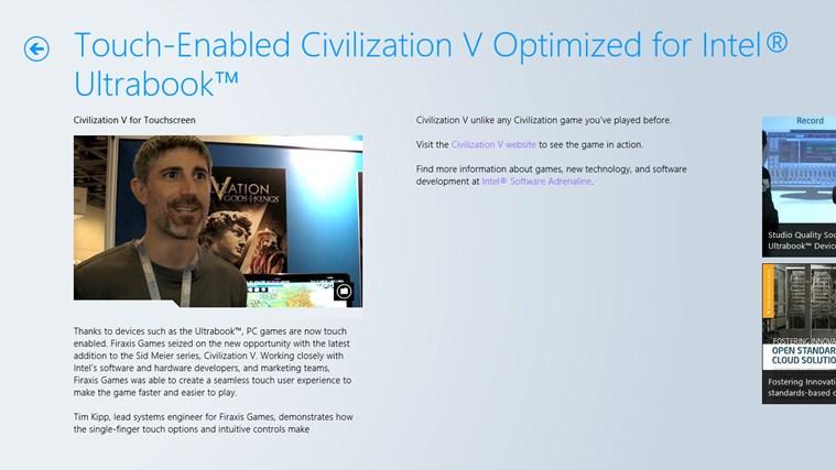 Intel Software Adrenaline screen shot 3