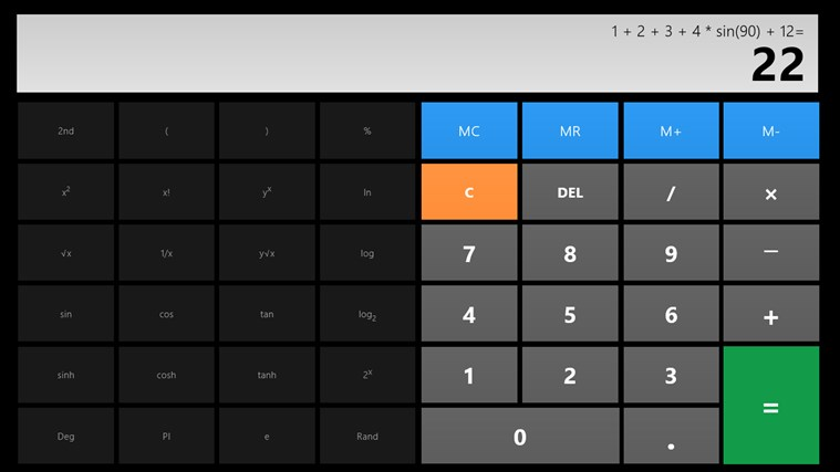 Calculator X8 screen shot 1