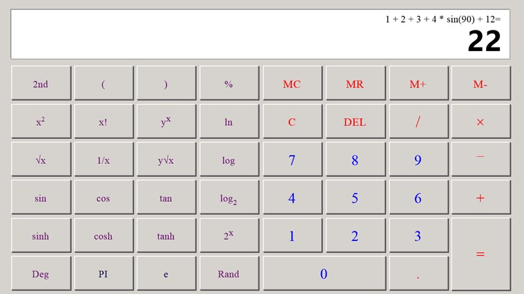 Calculator X8 screen shot 3