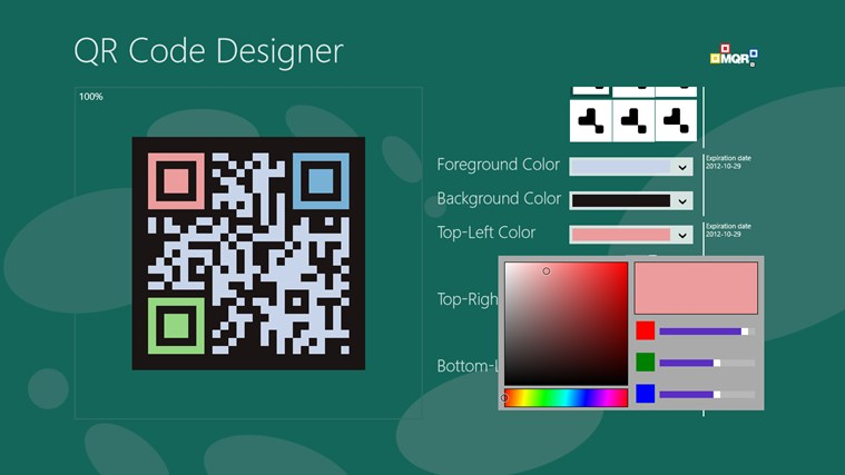 QR Code Designer screen shot 1