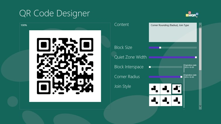 QR Code Designer screen shot 3