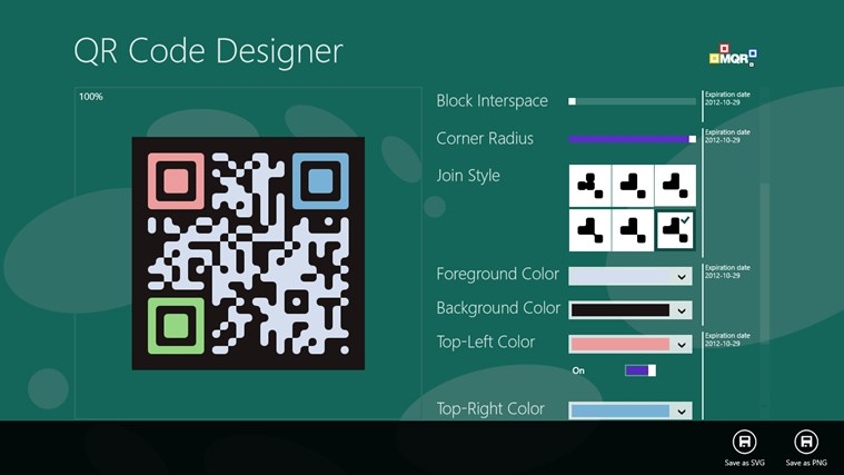 QR Code Designer screen shot 5