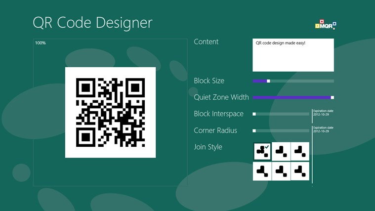 QR Code Designer screen shot 7