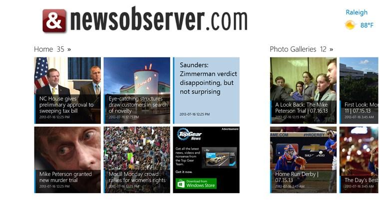 The News & Observer screen shot 1