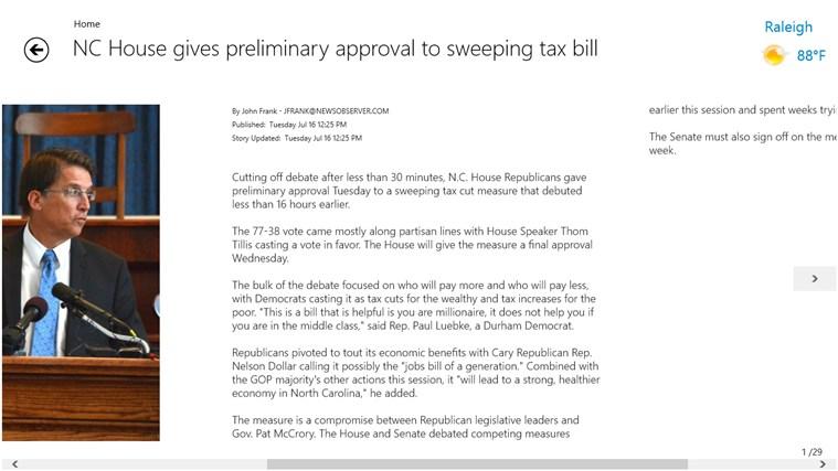 The News & Observer screen shot 3