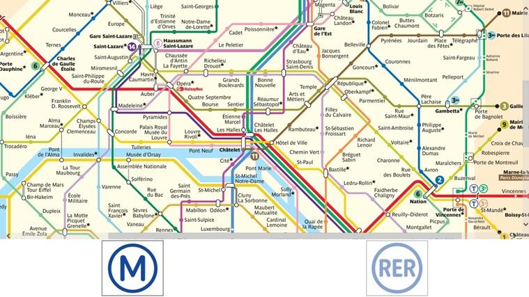 Plan Des Transports Parisien capture d'écran 1
