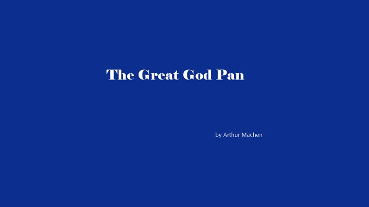 The Great God Pan by Arthur Machen captura de pantalla 3