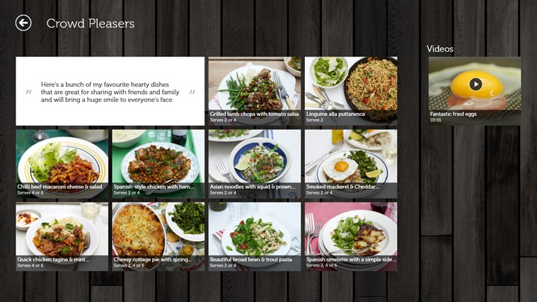 Jamie's Recipes screen shot 1