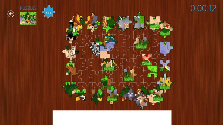 Puzzles screen shot 1