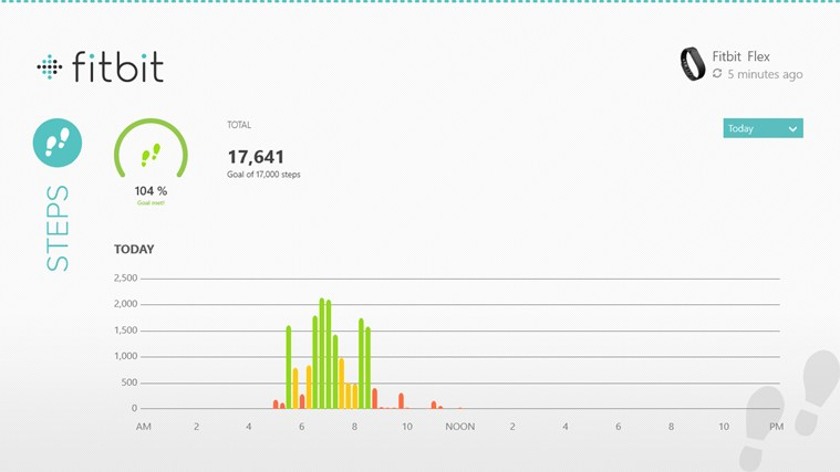 Fitbit screen shot 1