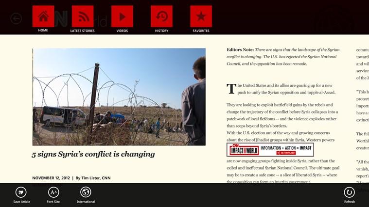 CNN App for Windows captura de tela 1