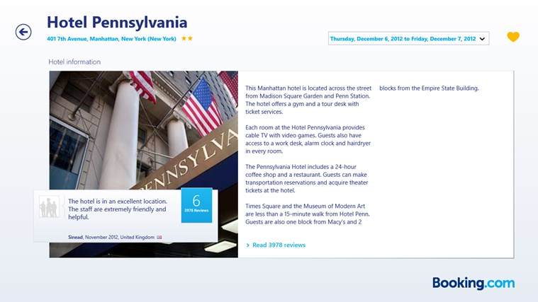 Booking.com screen shot 3