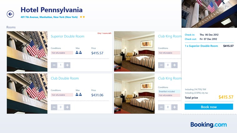 Booking.com screen shot 5