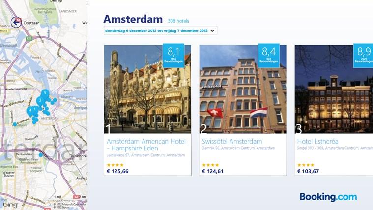 Booking.com schermafbeelding 1