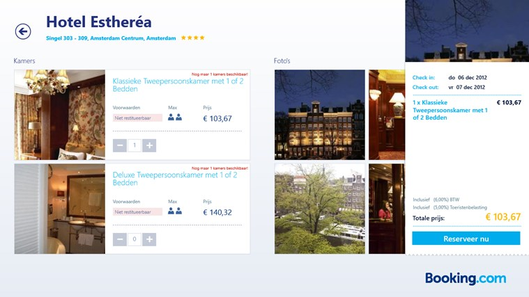 Booking.com schermafbeelding 5