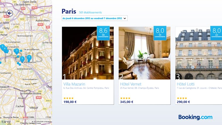 Booking.com capture d'écran 1
