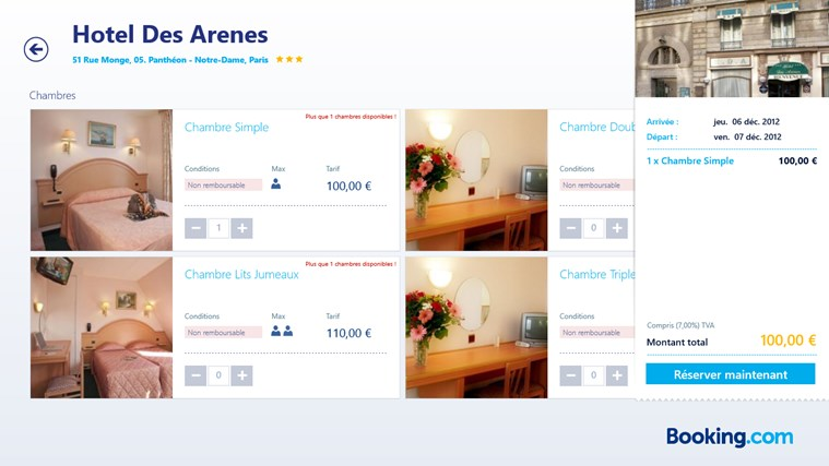Booking.com capture d'écran 5