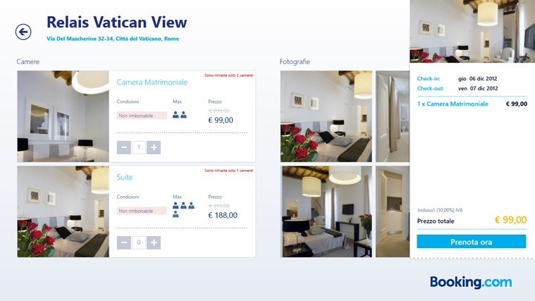 Booking.com cattura di schermata 5