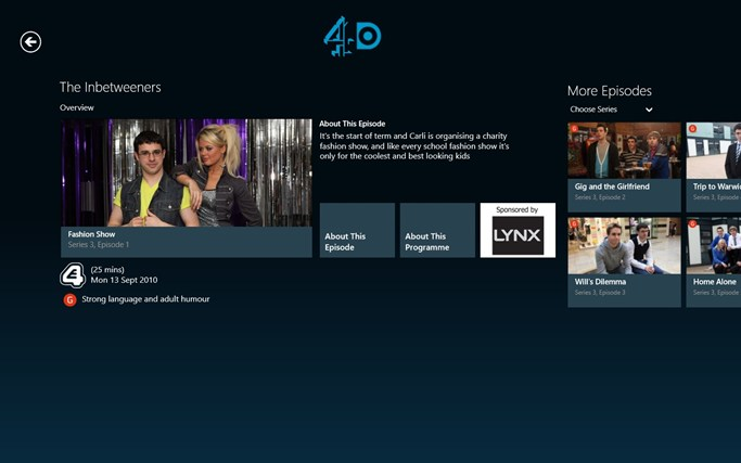 4oD screen shot 1