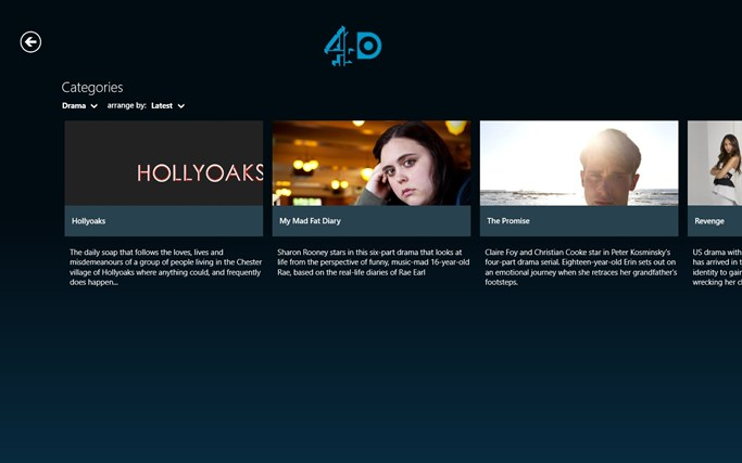 4oD screen shot 3
