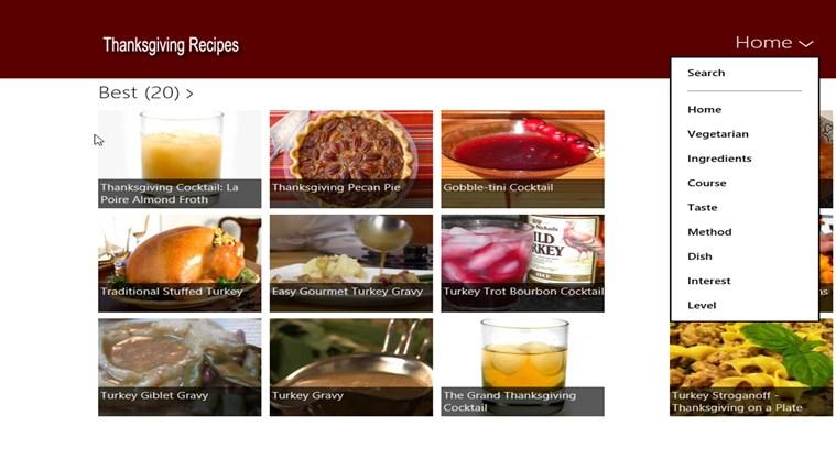 Thanksgiving Food screen shot 1